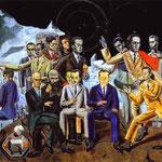 Incontro con amici - 1922 - Olio su tela
