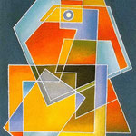 R.S.V.R.O.S. 1980, olio su tela, cm 31,5 x 26,5.