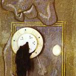 Loplop presenta una ragazzina - 1930 - Olio, gesso e materiali vari su legno
