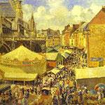 La Fiera di Dieppe - Mattino, sole - 1901 - Olio su tela