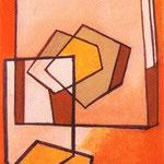 P.E.N.T.Q. , 1949, acquerello, cm 11,3 x 7,5