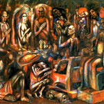 The Feast of Kings. 1913. Oil on canvas, 175 x 215 cm. The Russian Museum, St. Petersburg, Russia.