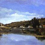 Le rive della Marna - 1864-1865 - Olio su tela