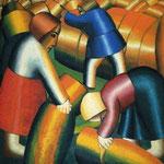 Kazimir Malevich - Mietitura (1912)
