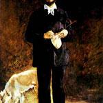 Edouard Manet - Ritratto di Desboutin Gilbert-Marcellin - 1875 - Olio su tela