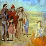 La famiglia di saltimbanchi - 1905 - Olio