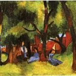 Bambini sotto gli alberi