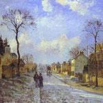 La strada per Louveciennes - 1872 - Olio su tela