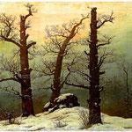 Tomba megalitica nella neve