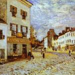 Piazza del Mercato a Marly - 1876 - Olio su tela