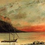 Tramonto sul lago Leman - 1874