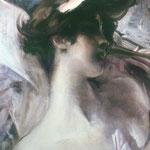 Giovane su fondo rosa - 1912