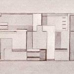 1932-1934. Studio per grande affresco nel salone al primo piano della Casa del Fascio di Como, cm 56 x 102.