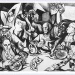 Renato Guttuso - Il convivio - Picasso e i suoi personaggi, 1973