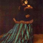Claude Monet - Doncieux Camille (Signora in verde) - 1866 - Olio su tela