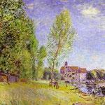 il Moret-sur-Loing - 1883 - Olio su tela