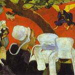 Visione dopo il sermone; Giacobbe lotta con l'Angelo - 1888 - Olio su tela