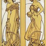 Due donne in piedi 1902