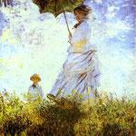 Claude Monet - Signora con l'ombrello - 1875 - Olio su tela