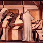 Morte di Giacobbe, 1949, olio su tela, cm 80 x 100.