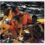 Renato Guttuso - Quattro figure sulla spiaggia, 1957