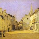 Piazza a Argenteuil (rue de la Chaussée) - 1872 - Olio su tela