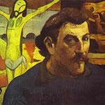 Autoritratto con Cristo giallo - 1889 - Olio su tela