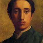 Degas in a Green Jacket, 1856