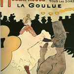Poster: Moulin Rouge - La Goulue - 1891 - Litografia