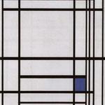 Piet Mondrian - Composizione con blue 1937 - Olio su tela