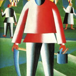 Kazimir Malevich - Haymaking (1930)