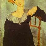 Donna con capelli - 1917 - Olio su tela