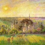 Countryside & Eragny Church and Farm, 1895