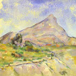 Il Monte di St.Victoria (La Montagne Sainte-Victoire) -  1897-1898 - Olio su tela