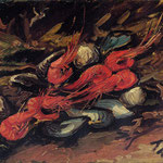 Still Life with Mussels and Shrimp, 1886