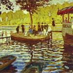Claude Monet - Le Grenoillère - 1869 - Olio su tela