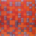 Piet Mondrian - Composizione Chequerboard, colori scuri - 1919 - Olio su tela