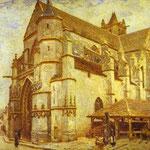 La chiesa di Moret - 1893 - Olio su tela