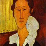 Ritratto di Anna Zborovska - 1917 - Olio su tela