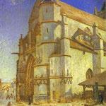 La chiesa di Moret al sole del mattino - 1893 - Olio su tela