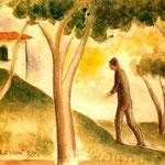 Carlo Carrà - Verso casa (1939)