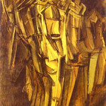 Sad Young Man in a Train. Oil on canvas, affixed to cardboard. 100 x 73 cm. Peggy Guggenheim Foundation, Venice, Italy.