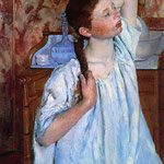 Girl Arranging Her Hair, 1886