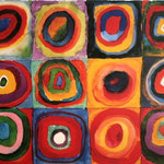 Squares and concentric circles, 1913