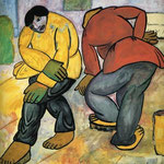 Kazimir Malevich - Pulitori di pavimenti (1911)