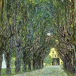 Strada alberata di Schloss Kammer - 1912 - Olio su tela