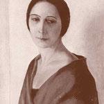 Ritratto della moglie Rosetta Martini eseguito da Mario Radice nel 1932 (olio su tela, cm 95 X 50).