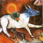 Mucca con parasole - 1946 - Olio su tela