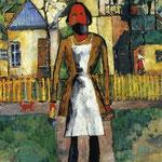 Kazimir Malevich - Carpentiere (1908)