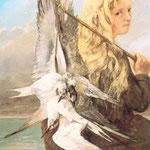 Ragazza con gabbiani - 1865